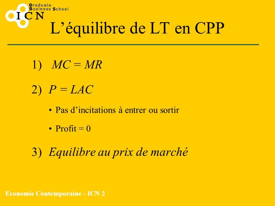 L'équilibre de LT en CPP