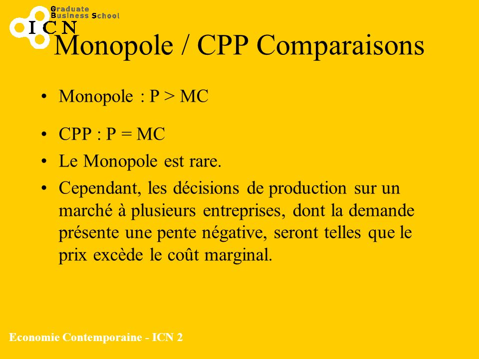 Monopole / CPP Comparaisons