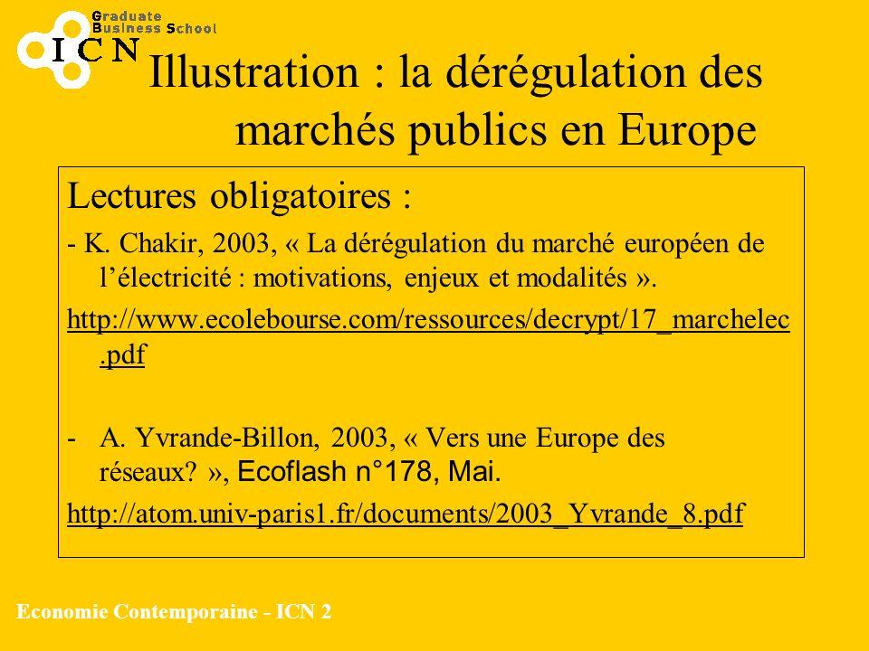 Illustration : la dérégulation des marchés publics en Europe
