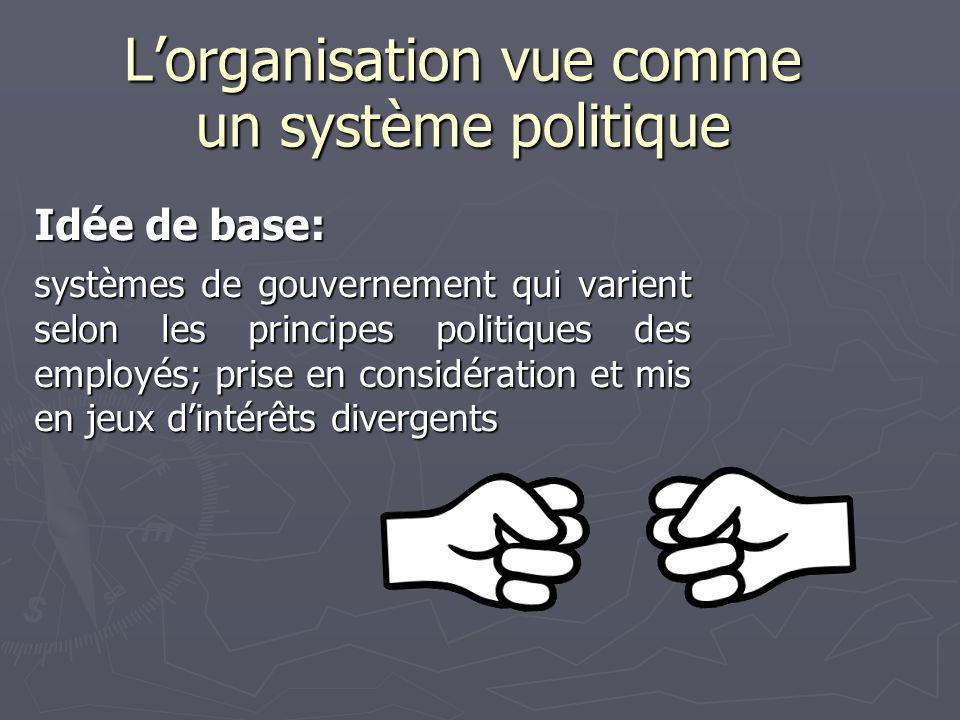 L'organisation vue comme un système politique
