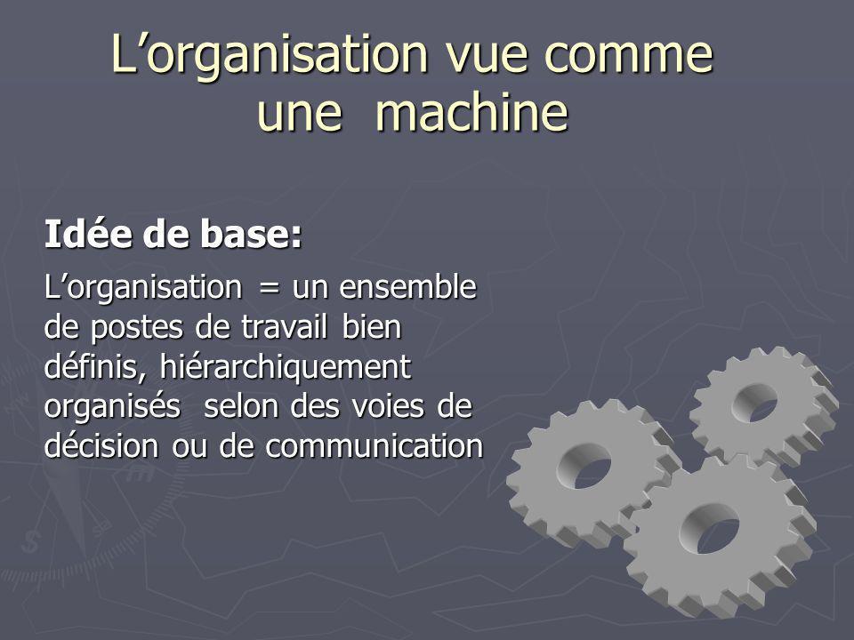 L'organisation vue comme une machine