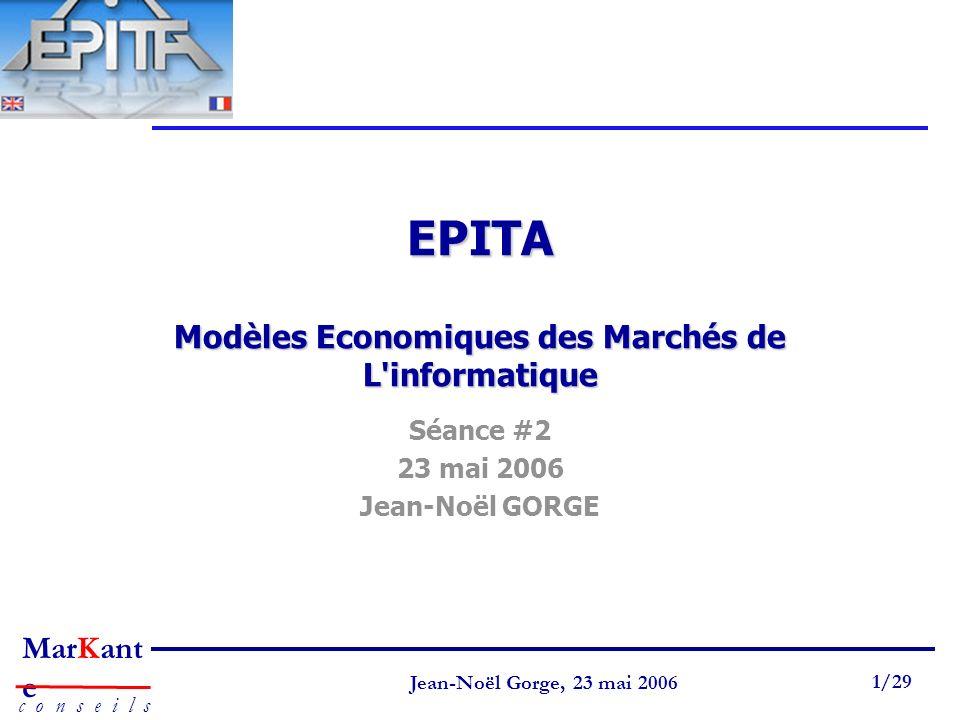 EPITA Modèles Economiques des Marchés de L informatique