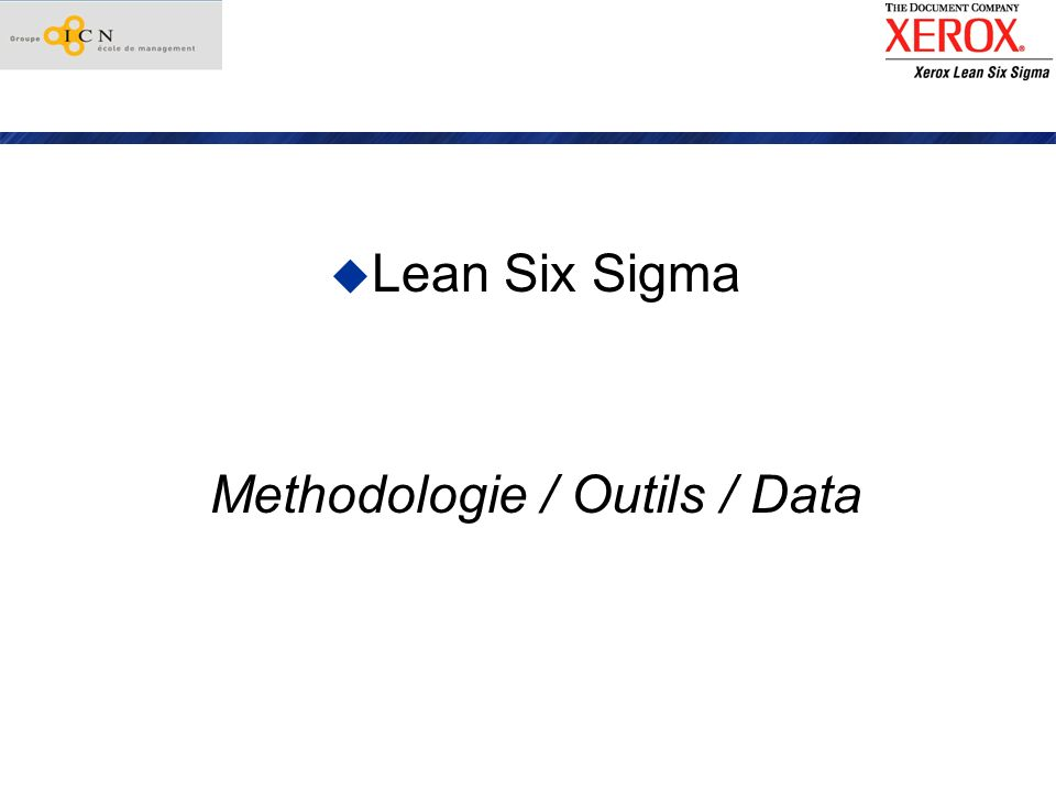 Methodologie / Outils / Data