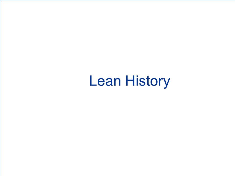 Lean History