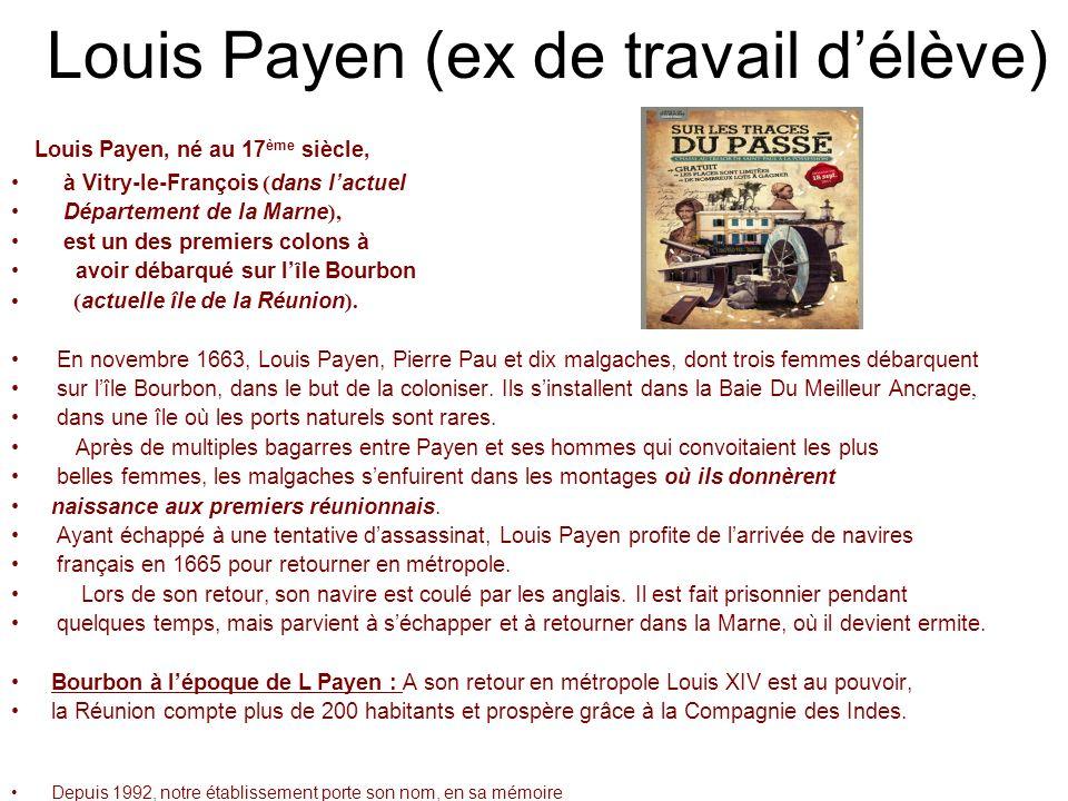 Louis Payen (ex de travail d'élève)