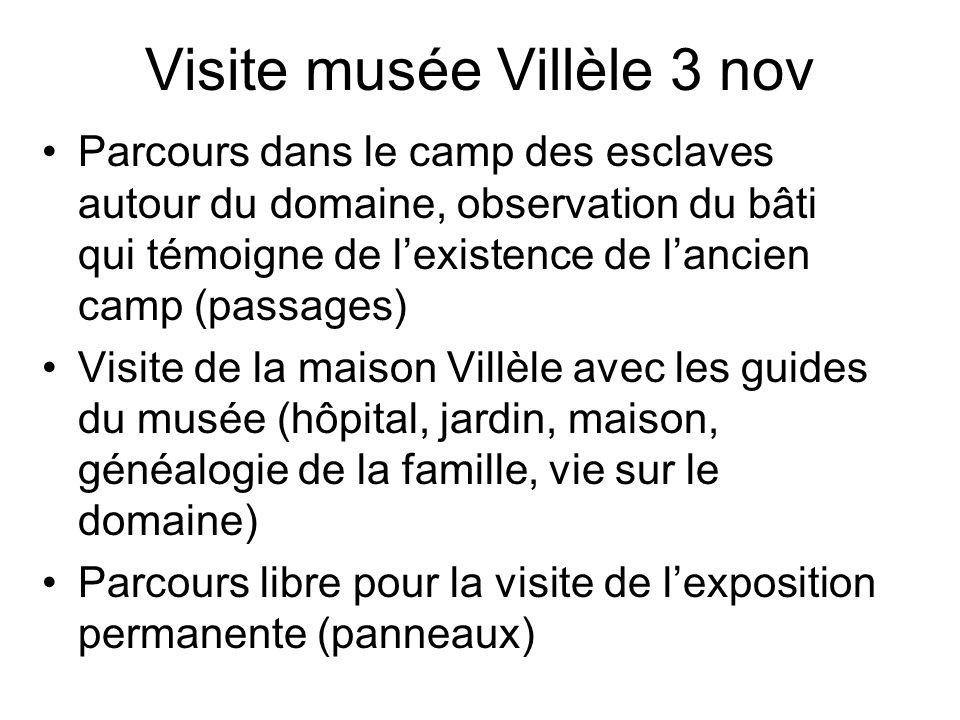 Visite musée Villèle 3 nov