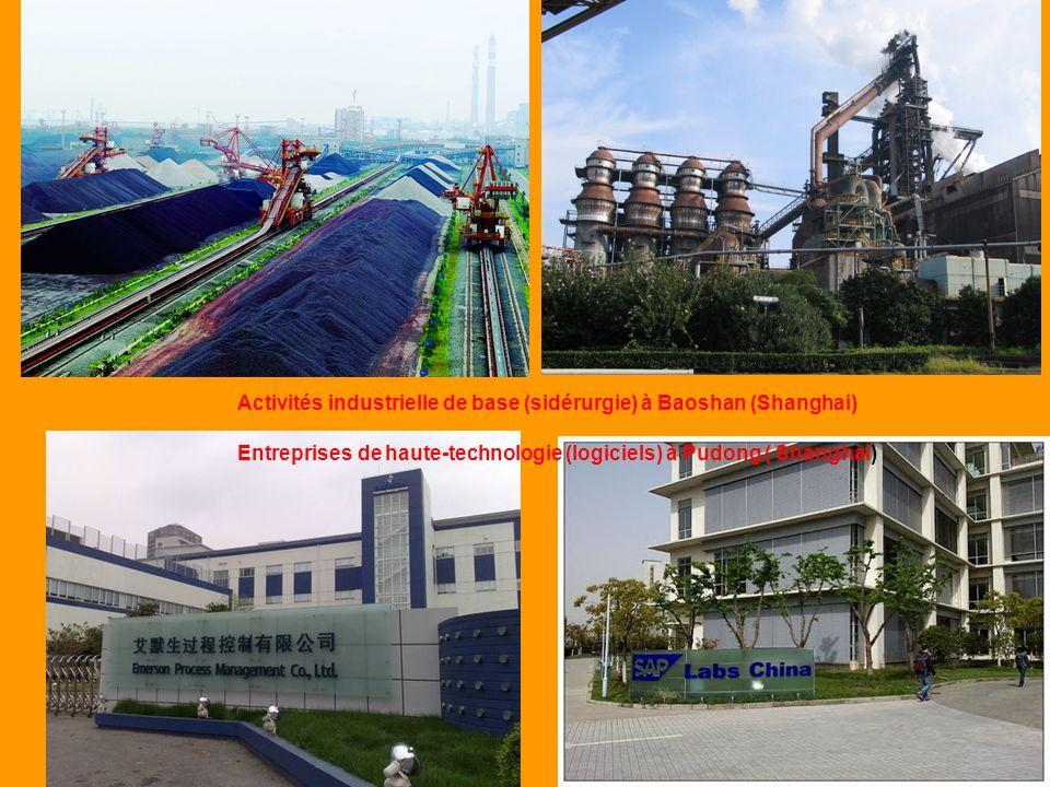 Activités industrielle de base (sidérurgie) à Baoshan (Shanghai)