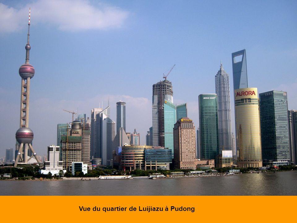 Vue du quartier de Luijiazu à Pudong