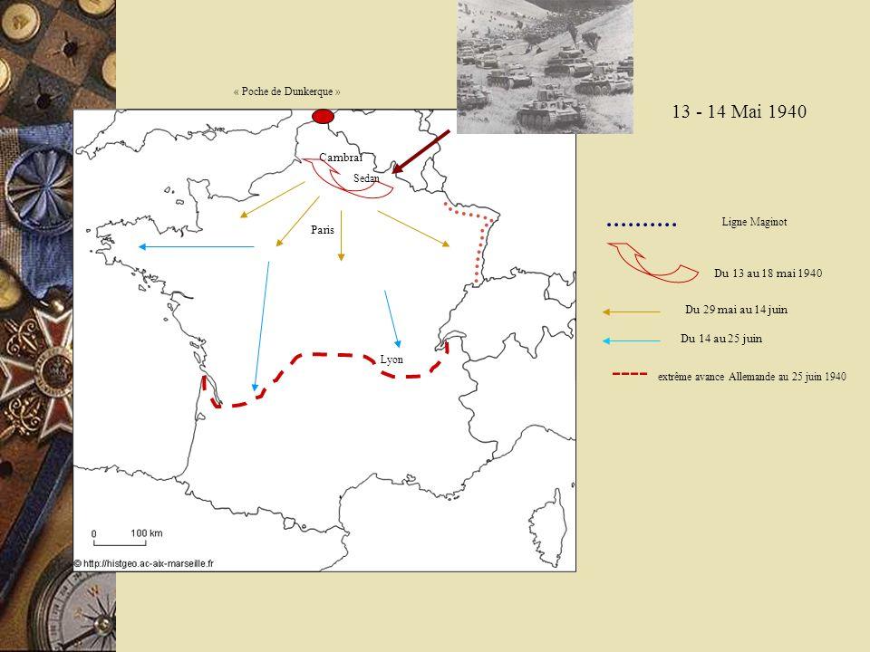 ---- extrême avance Allemande au 25 juin 1940