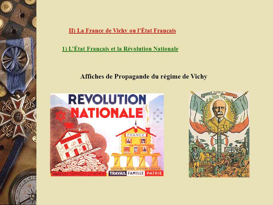 Affiches de Propagande du régime de Vichy