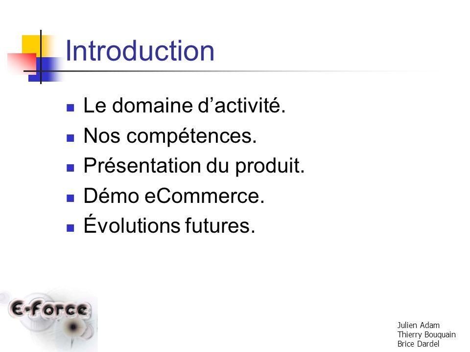 Introduction Le domaine d'activité. Nos compétences.