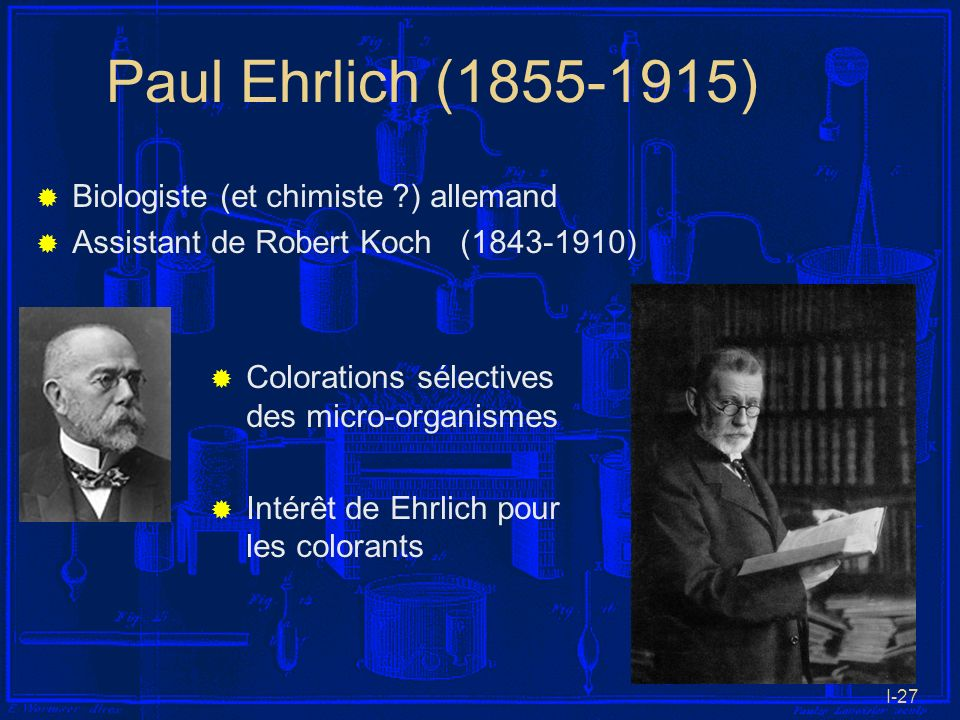 Paul Ehrlich (1855-1915) Biologiste (et chimiste ) allemand