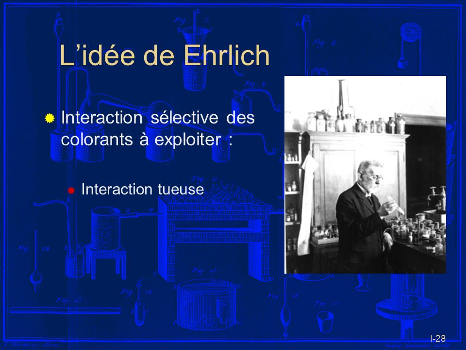 L'idée de Ehrlich Interaction sélective des colorants à exploiter :
