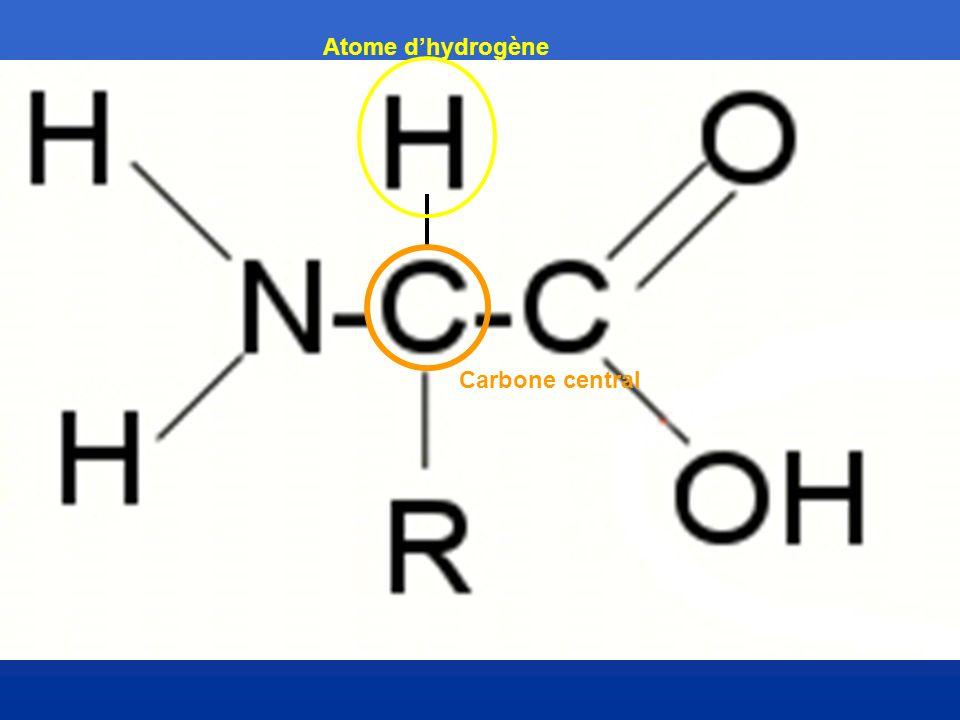 Atome d'hydrogène Carbone central