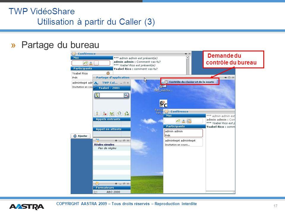 TWP VidéoShare Utilisation à partir du Caller (3)