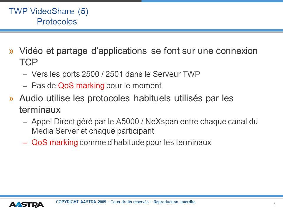 TWP VideoShare (5) Protocoles