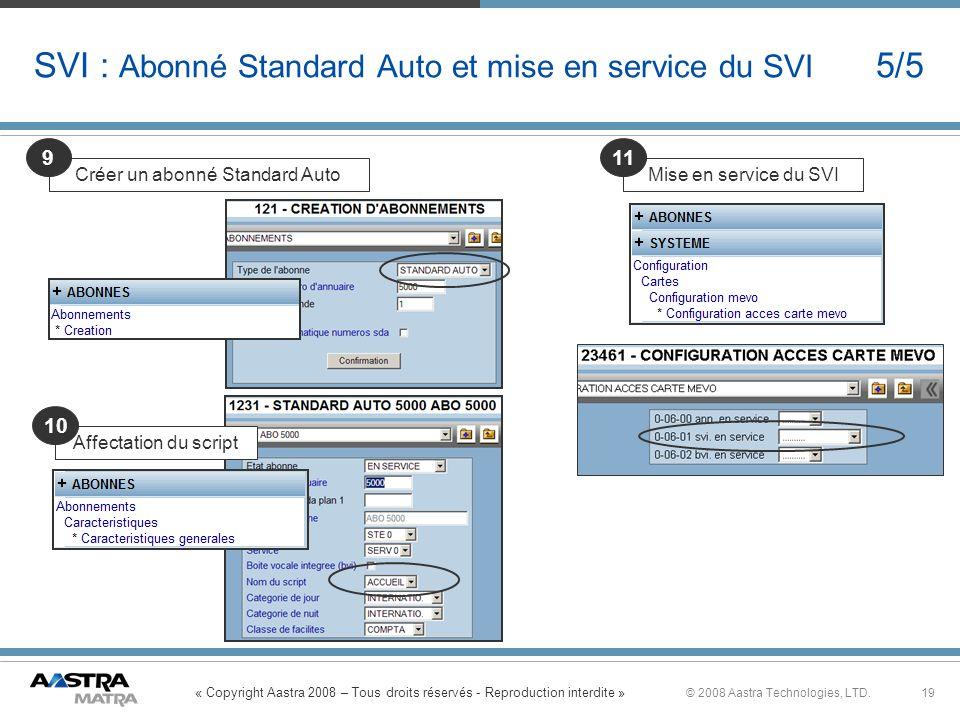 SVI : Abonné Standard Auto et mise en service du SVI 5/5