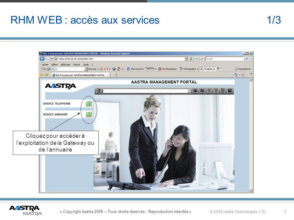 RHM WEB : accès aux services 1/3