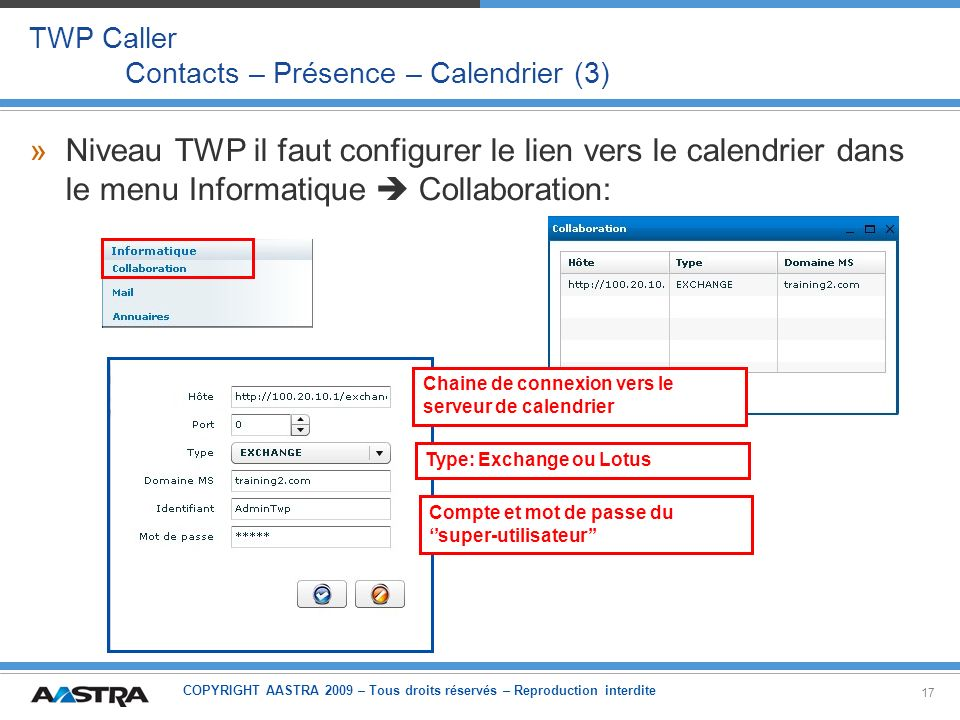 TWP Caller Contacts – Présence – Calendrier (3)