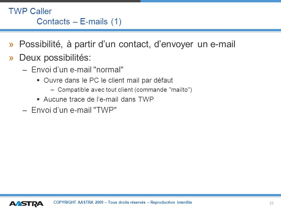 TWP Caller Contacts – E-mails (1)