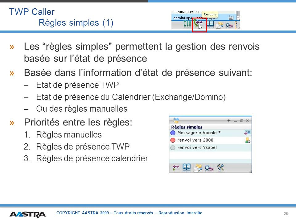 TWP Caller Règles simples (1)