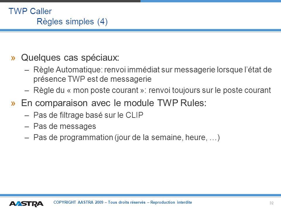 TWP Caller Règles simples (4)