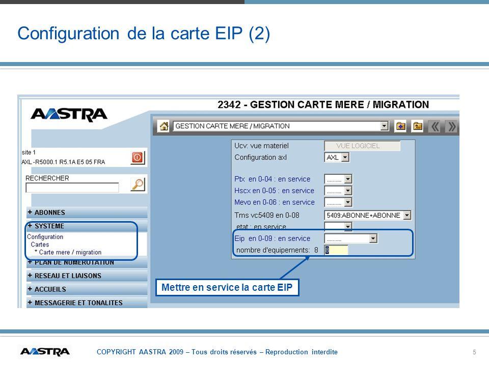 Configuration de la carte EIP (2)