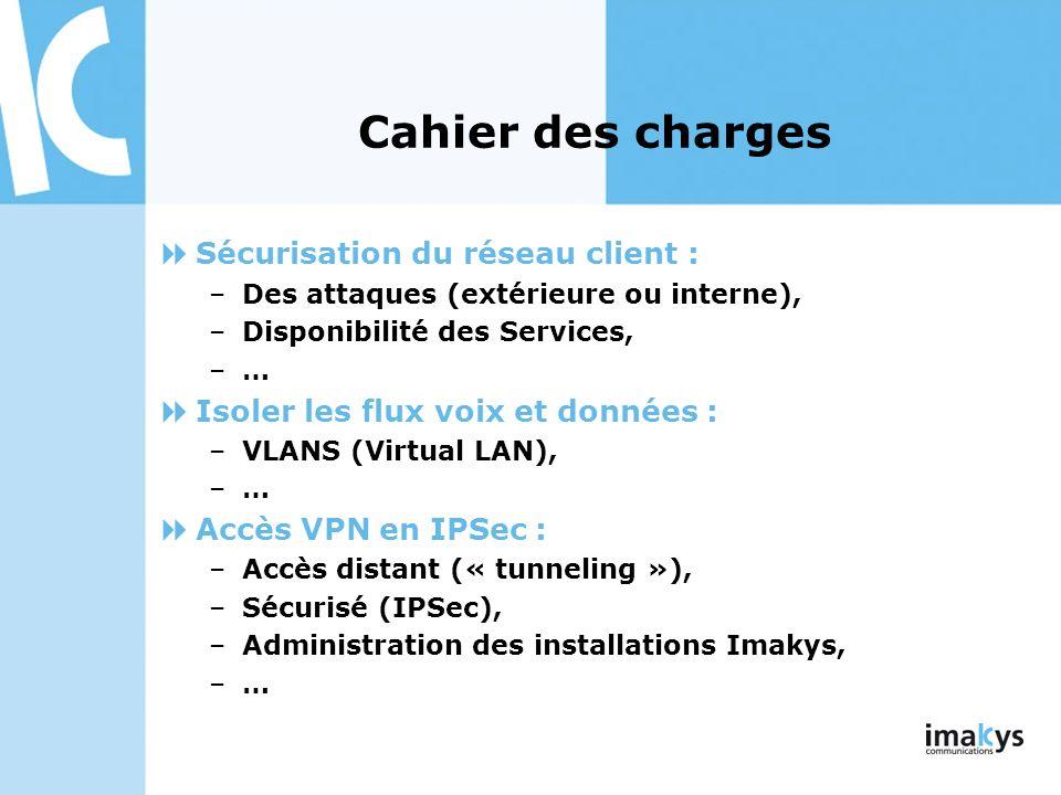 Cahier des charges Sécurisation du réseau client :