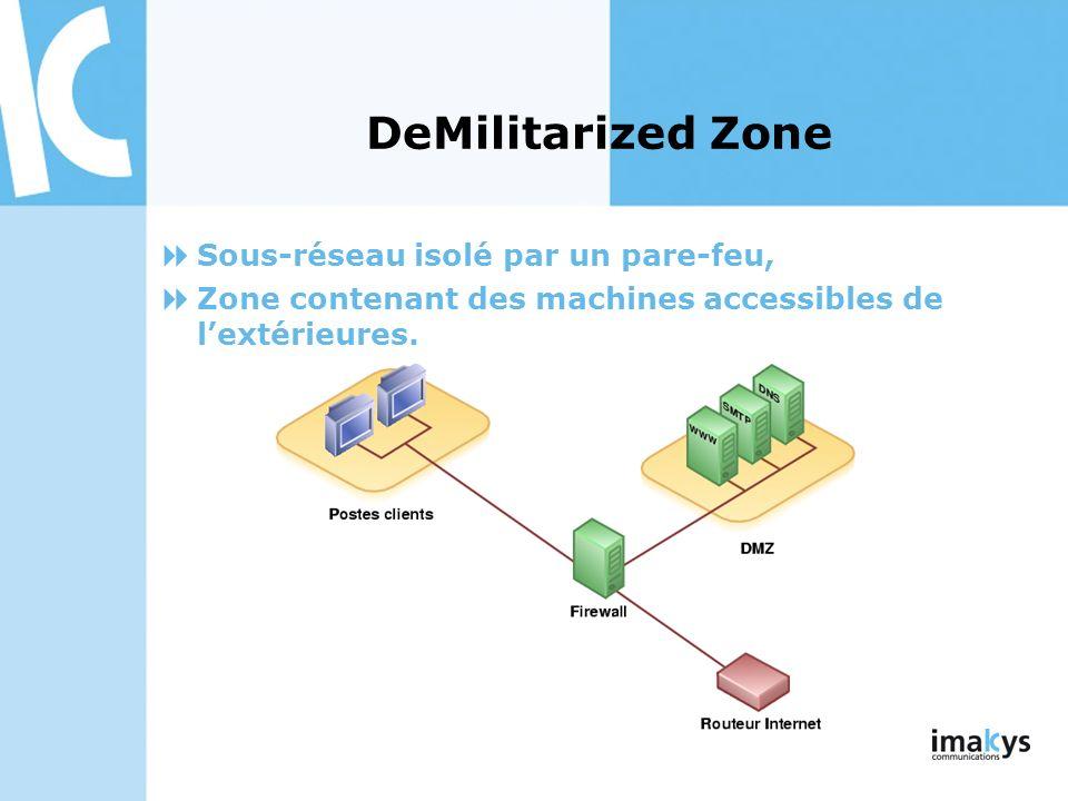DeMilitarized Zone Sous-réseau isolé par un pare-feu,