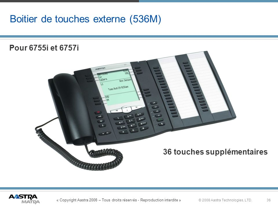 Boitier de touches externe (536M)