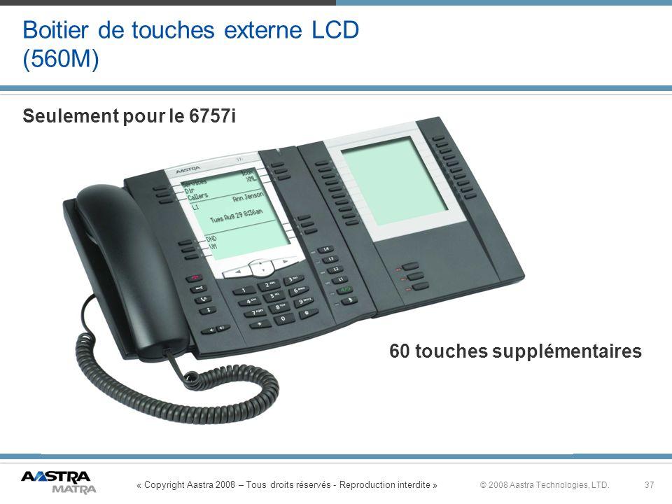 Boitier de touches externe LCD (560M)