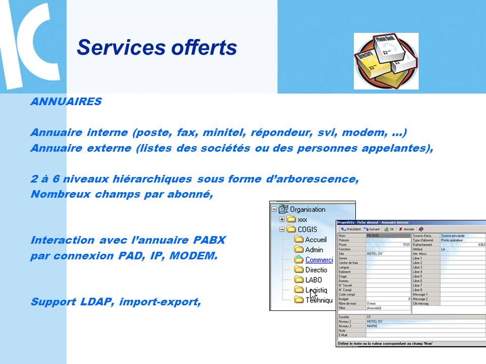 Services offerts ANNUAIRES