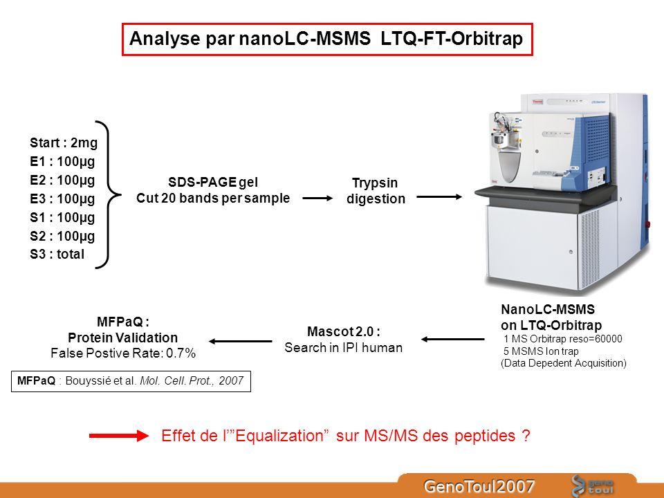 Analyse par nanoLC-MSMS LTQ-FT-Orbitrap