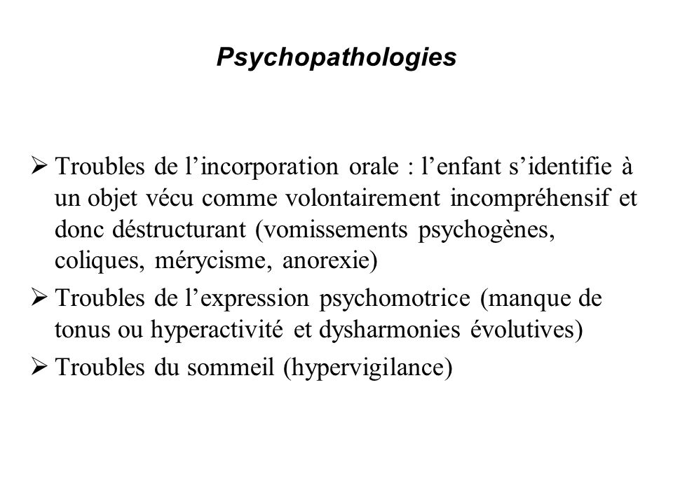 Psychopathologies