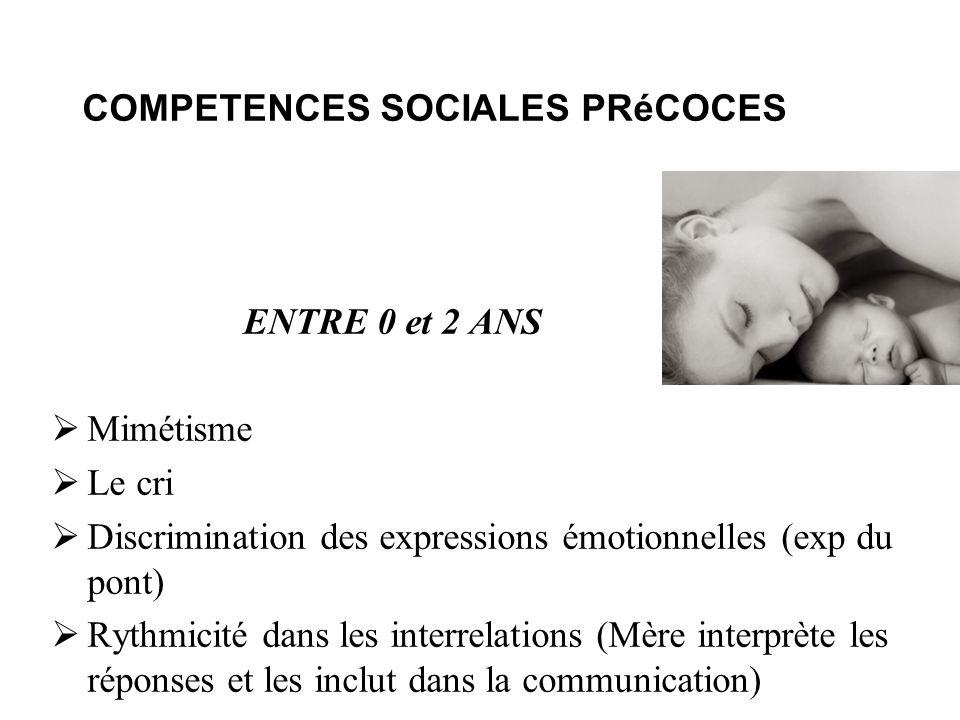 COMPETENCES SOCIALES PRéCOCES