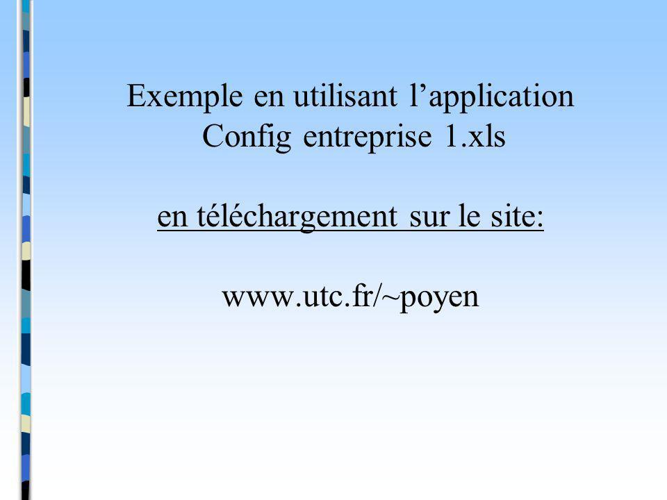 Exemple en utilisant l'application Config entreprise 1