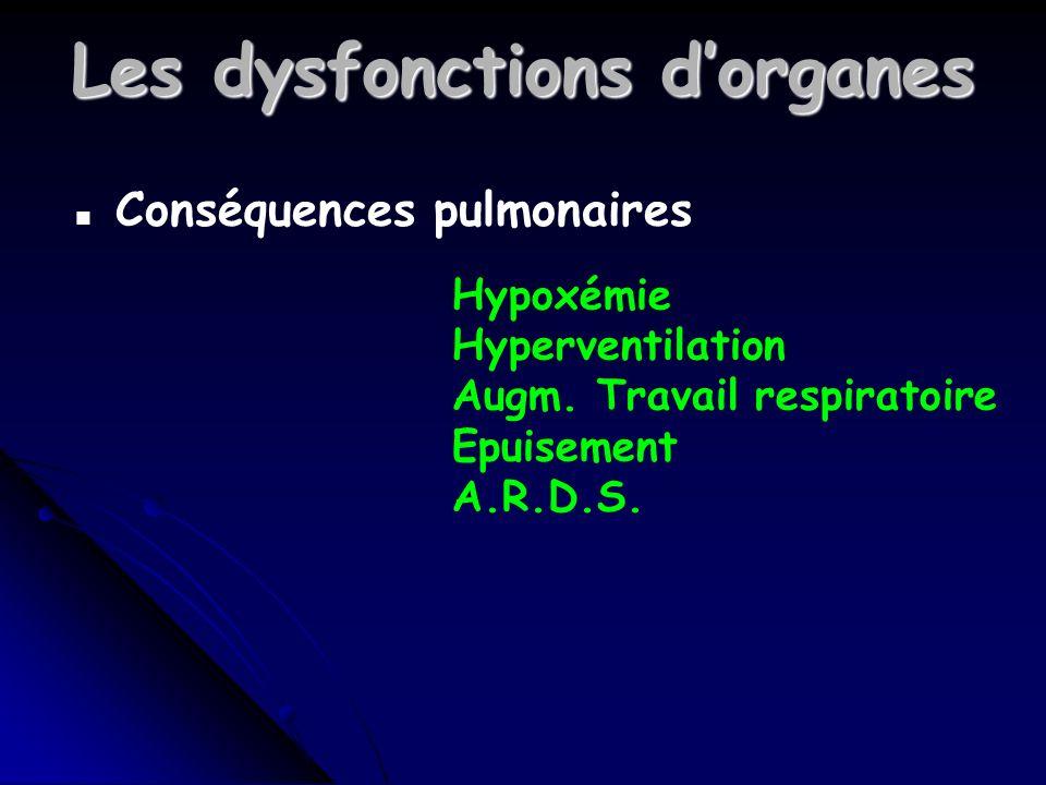 Les dysfonctions d'organes