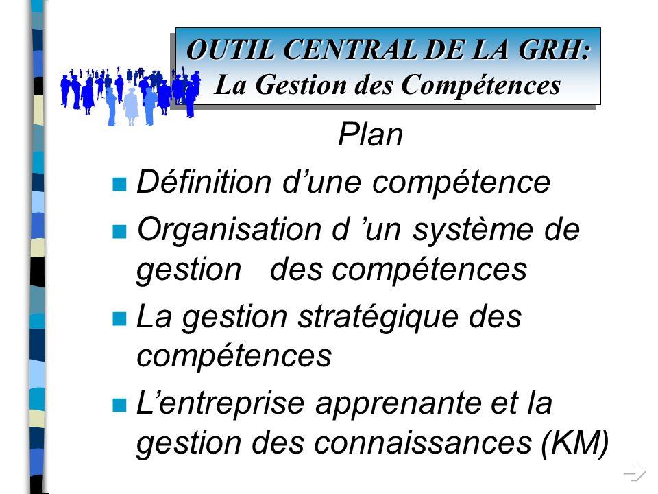 outil central de la grh  la gestion des comp u00e9tences