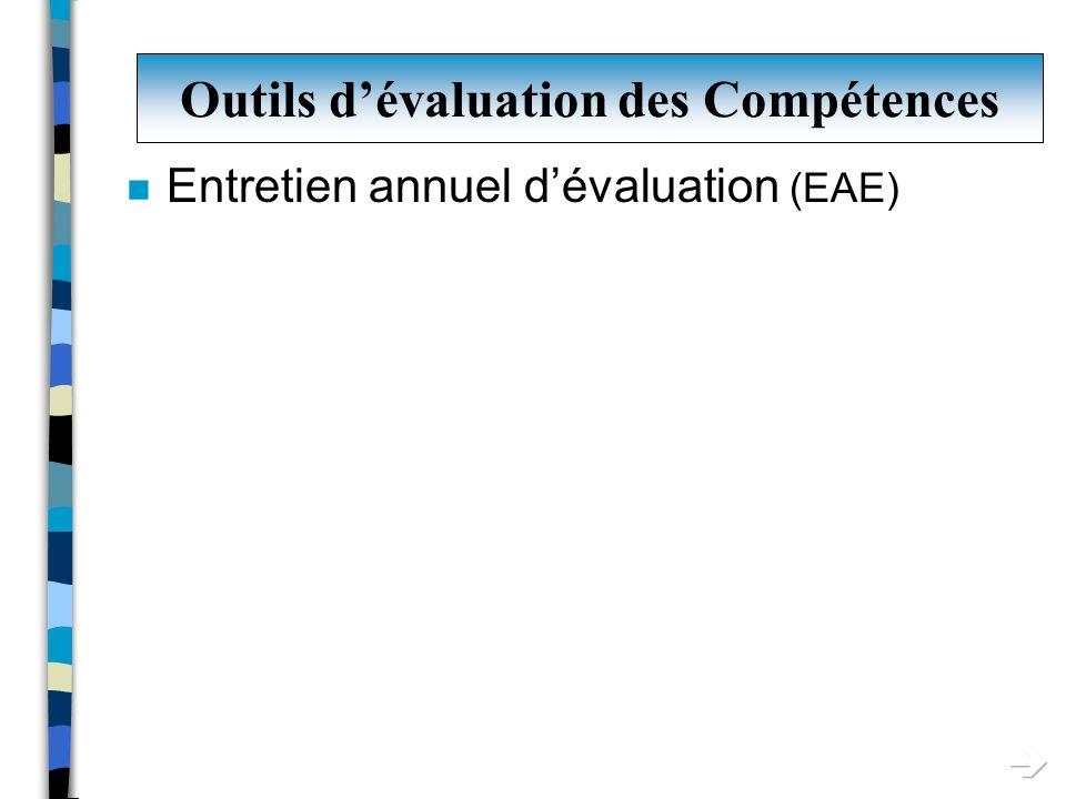 Outils d'évaluation des Compétences