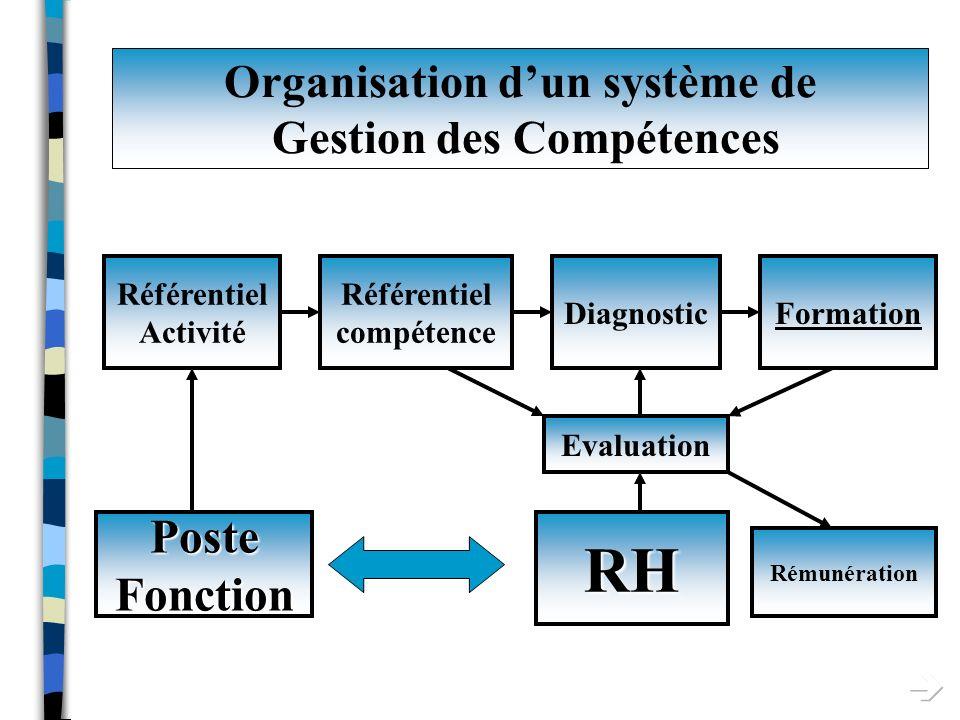 Organisation d'un système de Gestion des Compétences