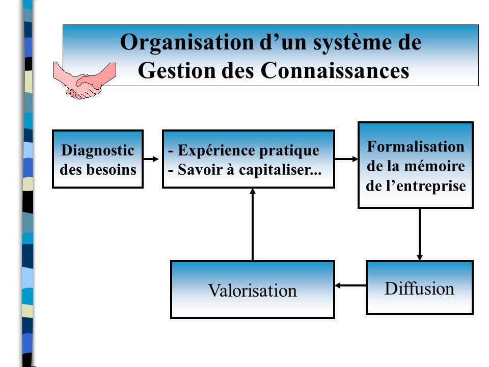 Organisation d'un système de Gestion des Connaissances