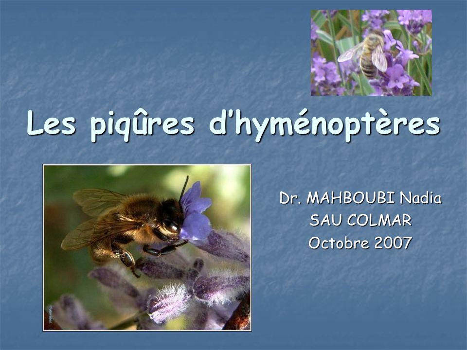 Les piqûres d'hyménoptères