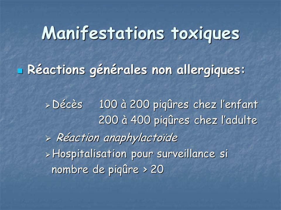 Manifestations toxiques