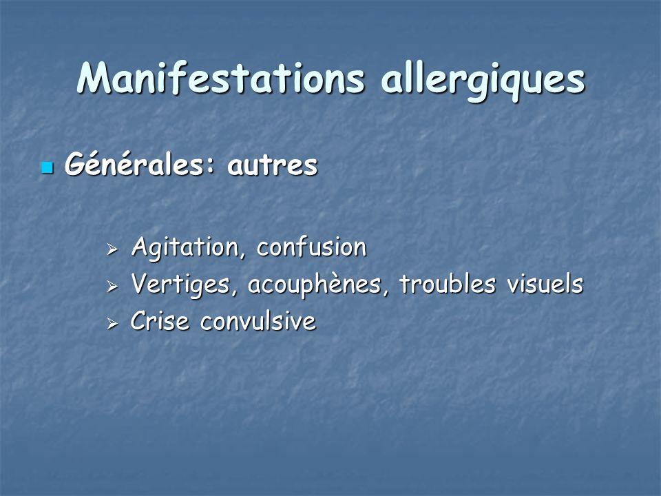 Manifestations allergiques