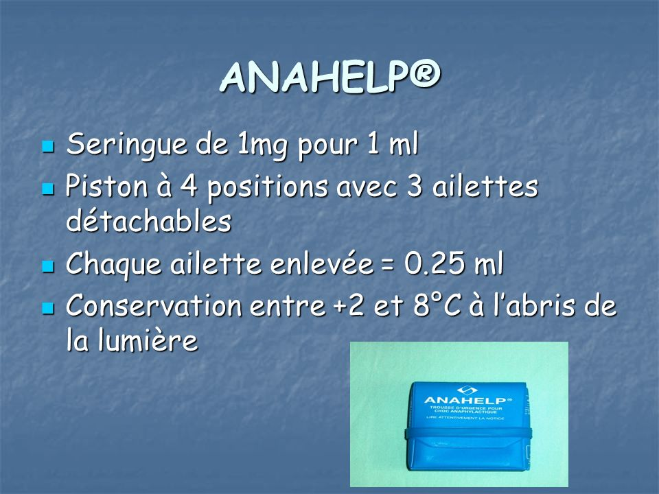 ANAHELP® Seringue de 1mg pour 1 ml