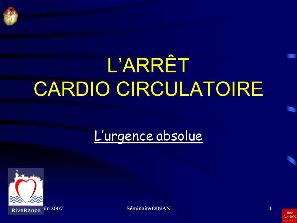 L'ARRÊT CARDIO CIRCULATOIRE