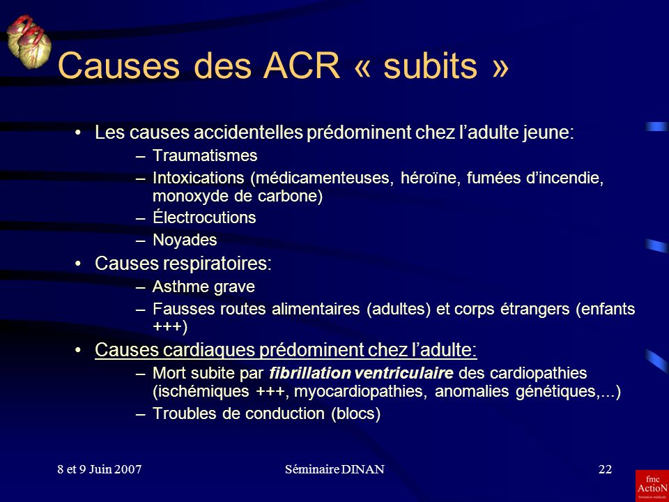 Causes des ACR « subits »