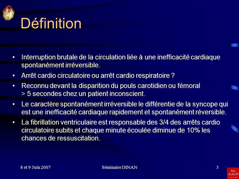 Définition Interruption brutale de la circulation liée à une inefficacité cardiaque spontanément irréversible.