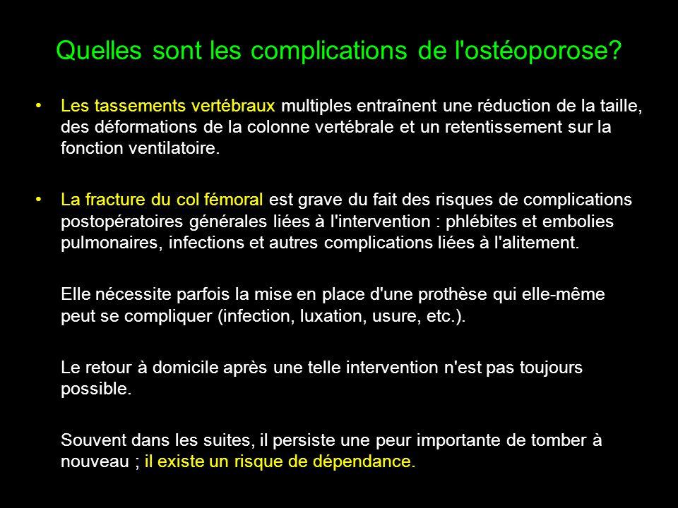 Quelles sont les complications de l ostéoporose