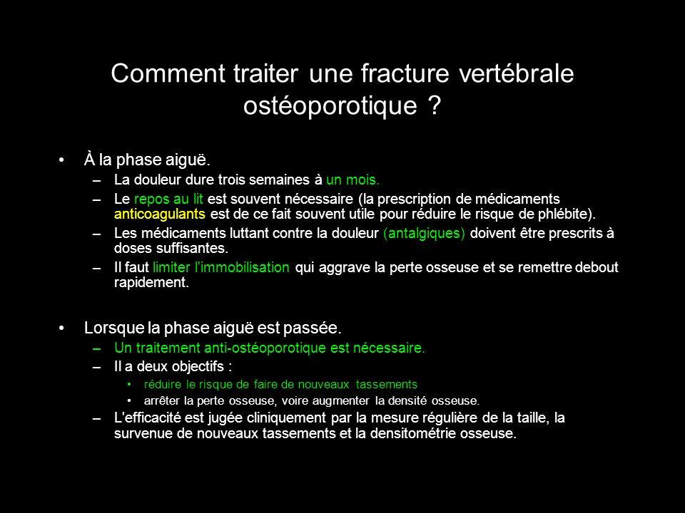 Comment traiter une fracture vertébrale ostéoporotique
